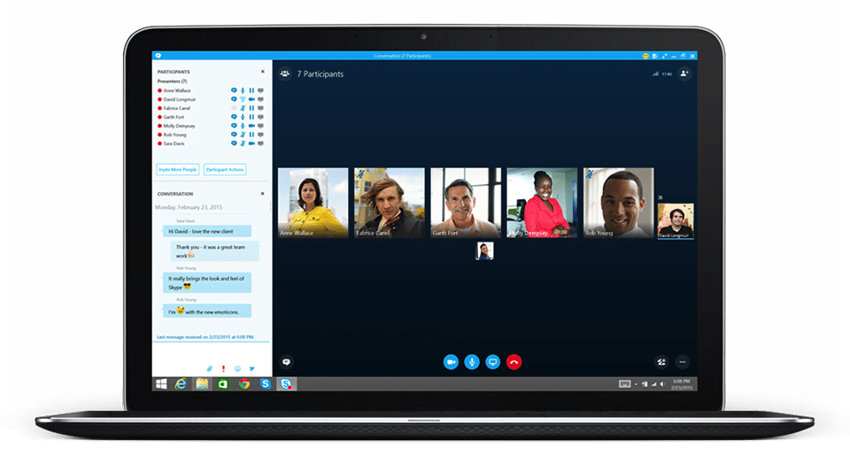 skype for business laptop