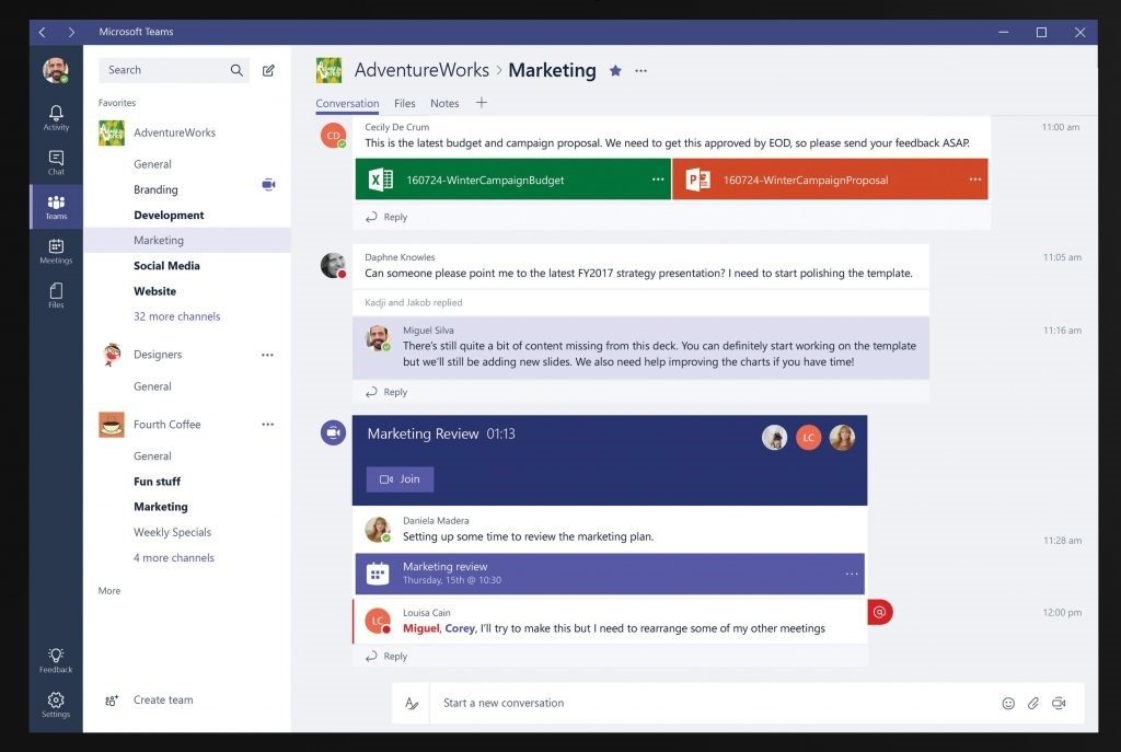 microsoft teams communications